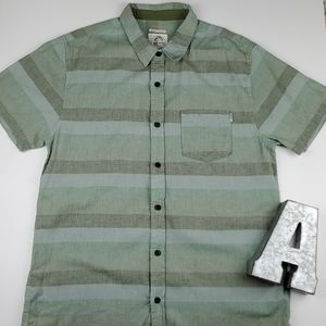 O'Neil Striped Button Front Collared Pocket Shirt